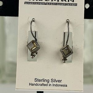 New Tailsman sterling & citrine earrings